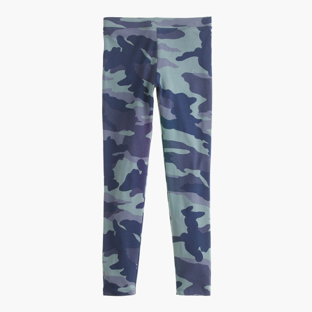 Girls' everyday leggings in camo