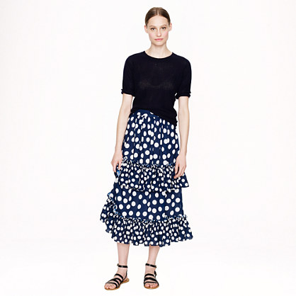 Juan Carlos Obando® for J.Crew Magdelena skirt in polka dot