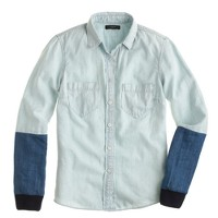 Public School™ for J.Crew pieced chambray shirt