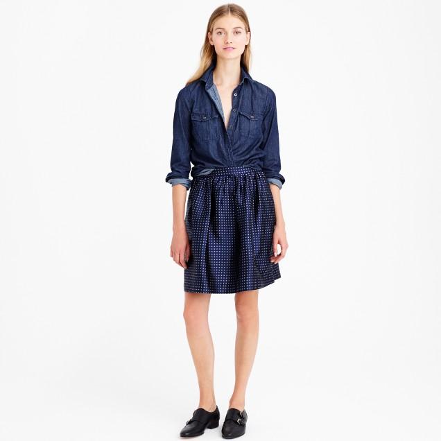 Collection sunray silk skirt