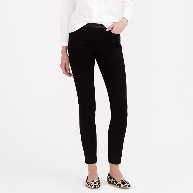 Dannie leather-trim pant