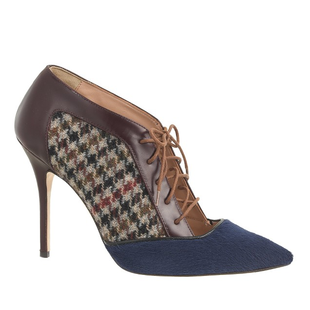 collection lace-up houndstooth pumps