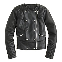 Collection quilted leather motorcycle jacket