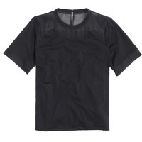 Silk-cutout T-shirt