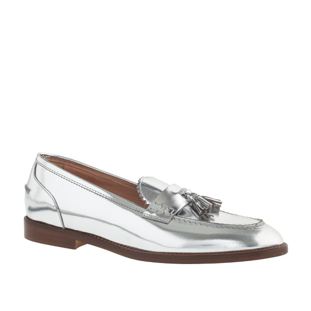 Biella metallic tassel loafers