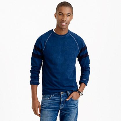 Long-sleeve indigo heavyweight T-shirt