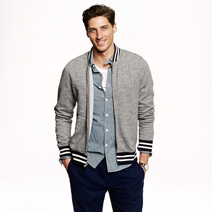 Midweight fleece baseball jacket