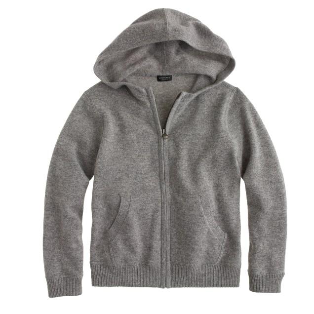 Kids' cashmere zip hoodie