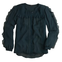 Collection picot ruffle blouse