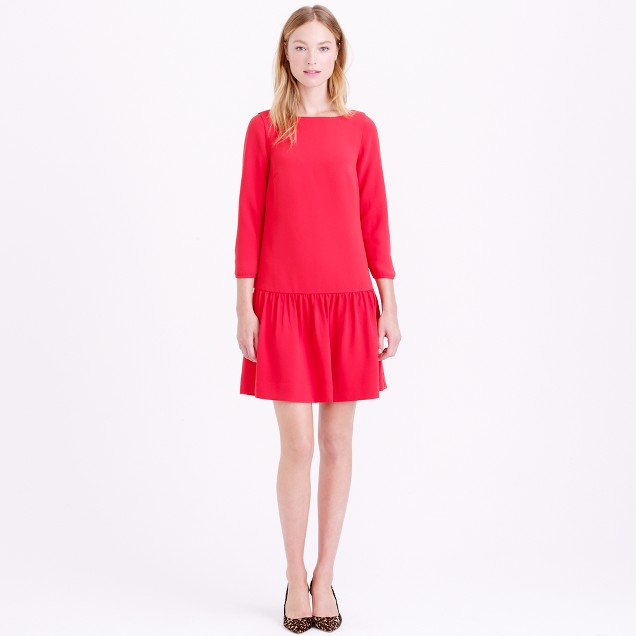Crepe drop-waist dress