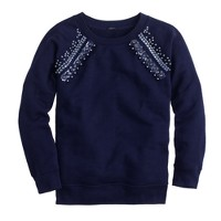 Jeweled raglan sweatshirt