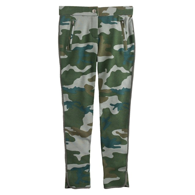 Girls' Pixie pant in pine camo