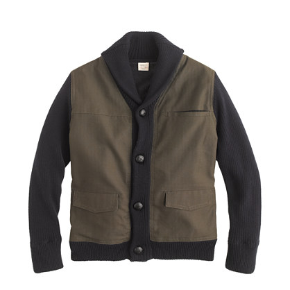 Boys' chino sweater-jacket