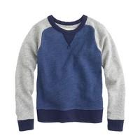 Boys' colorblock baseball sweatshirt