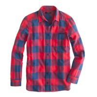 Petite flannel shirt in buffalo check