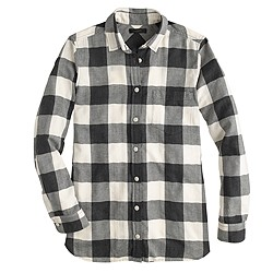Flannel shirt in buffalo check