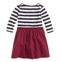 Girls' two-in-one dress in stripe