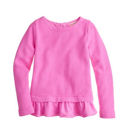 Girls' ruffle sweatshirt