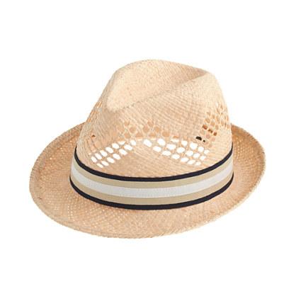 Open-weave trilby hat