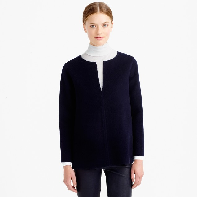 Collection double-face cashmere top