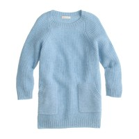 Girls' merino wool patch-pocket tunic sweater