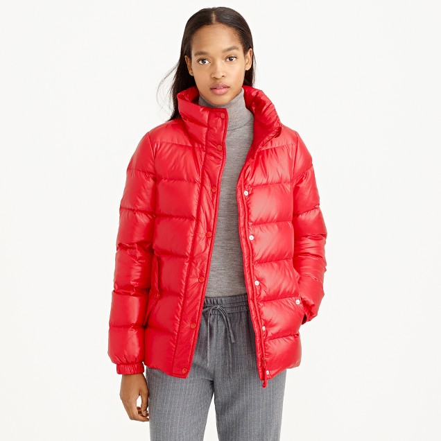 Shiny puffer down jacket