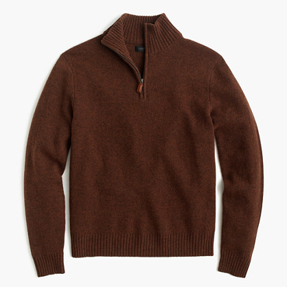 Slim lambswool half-zip sweater