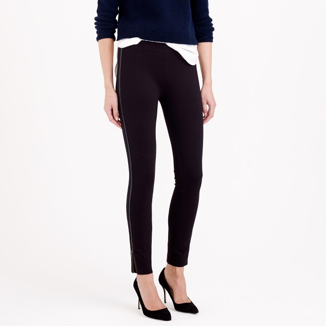 Pixie pant in leather stripe