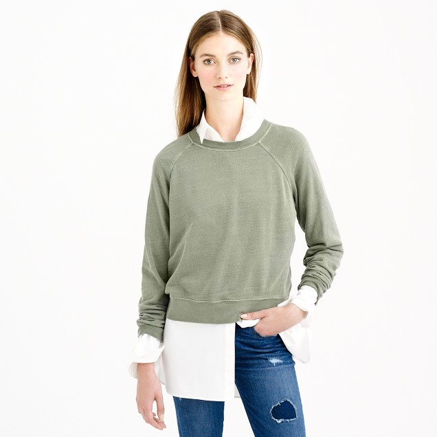 Lightweight cropped sweatshirt