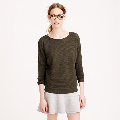 Rib-stitch dolman sweater
