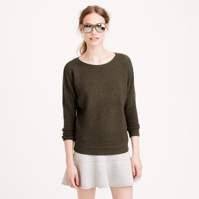 Petite rib-stitch dolman sweater