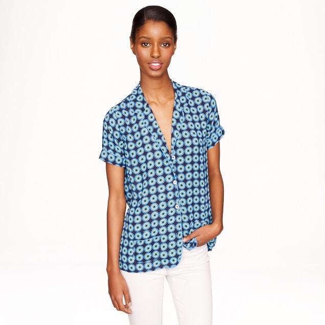 Piped pajama top