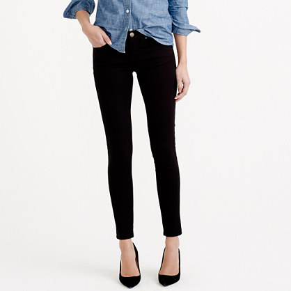 Toothpick jean in black