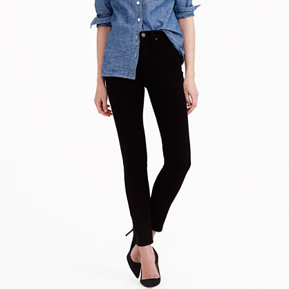 Petite lookout high-rise jean in black