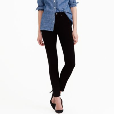 "Tall 9"" high-rise toothpick jean in black"