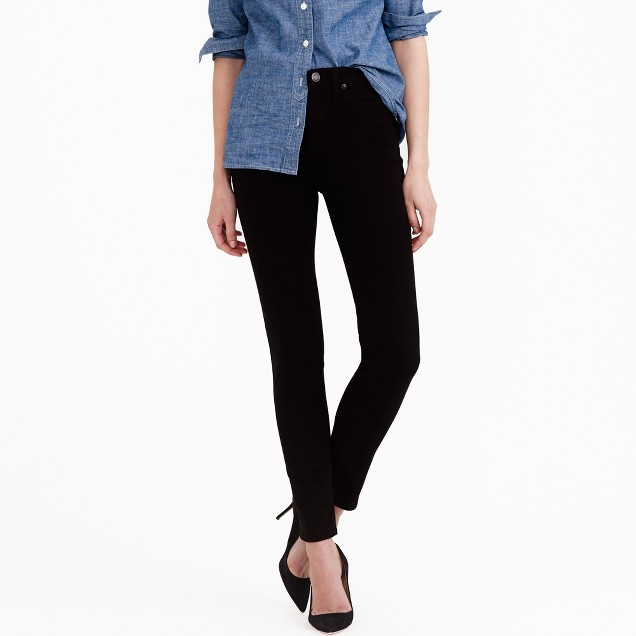 "9"" high-rise toothpick jean in black"