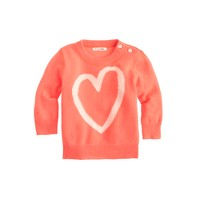 Baby cashmere sweater in heart sketch