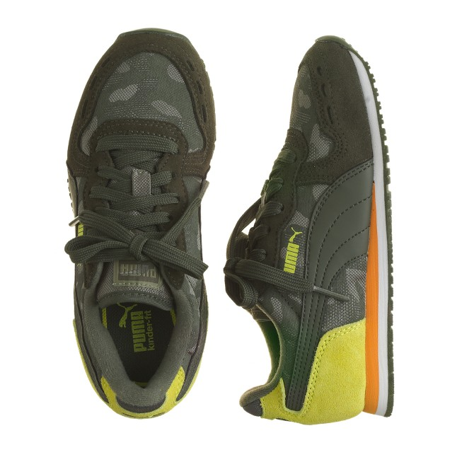 Kids' Puma® for crewcuts Cabana Racer sneakers in camo