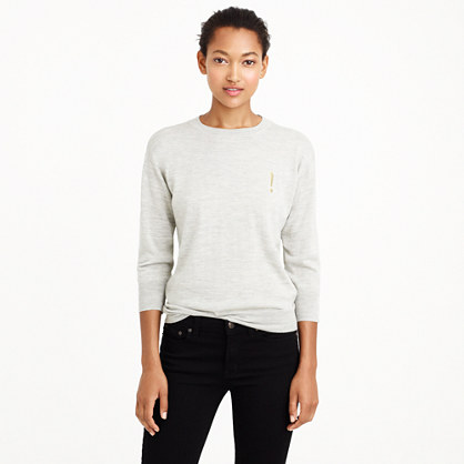 Merino wool exclamation sweater