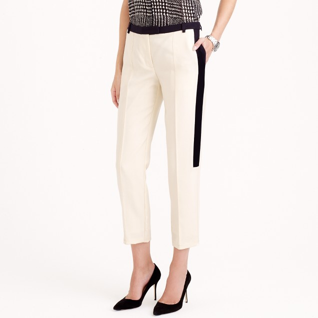 Collection cropped tuxedo pant