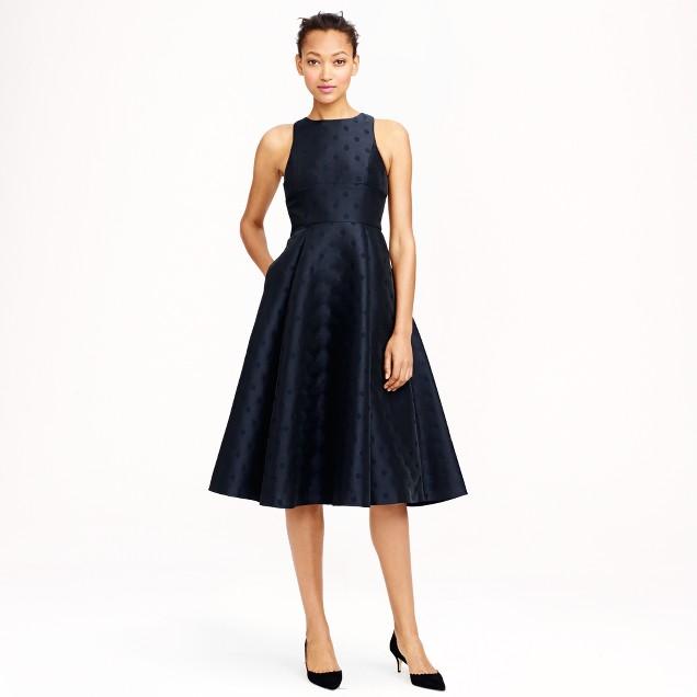 Collection jacquard dot dress