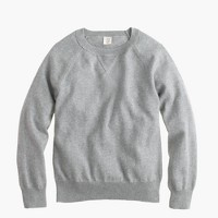 Boys' cotton-cashmere raglan sweatshirt