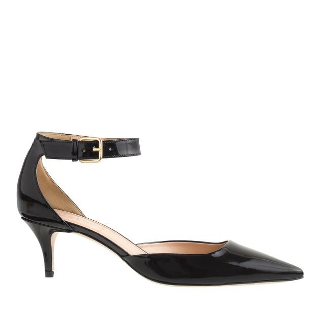 Dulci patent ankle-strap kitten heels