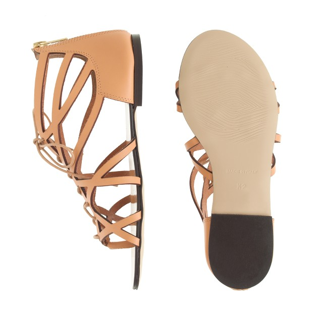 Girls' strappy gladiator sandals