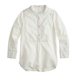 Girls' bib tunic in tissue oxford cloth