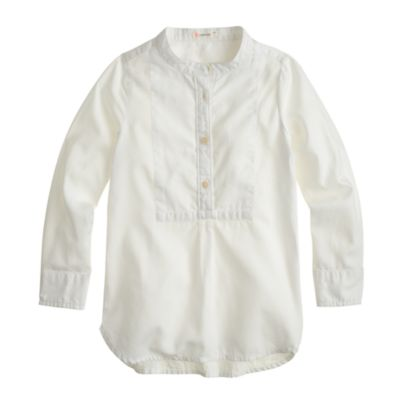 Girls' bib tunic in tissue oxford cloth