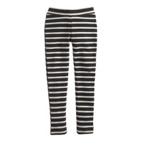 Girls' cozy everyday leggings in charcoal stripe