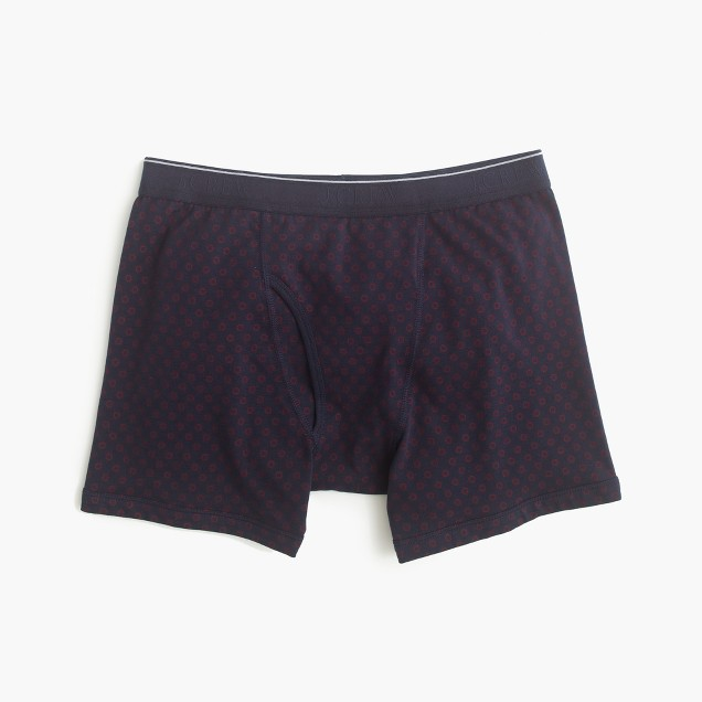 Circle print knit boxer briefs