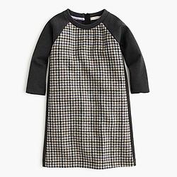 Girls' wool tweed A-line dress