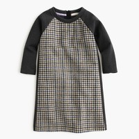 Girls' wool tweed A-line dress